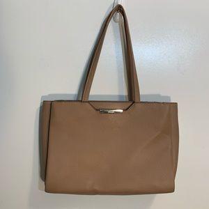 Nine West Light Brown Faux Pebble Leather Purse